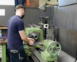 Our apprentices learn turning from scratch - first on conventional lathes